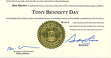 Tony Bennett Celebrates 95th Birthday With Final NYC Performances & State Proclamation