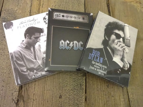 Win Bob Dylan, AC/DC or Elvis Presley Book Sets
