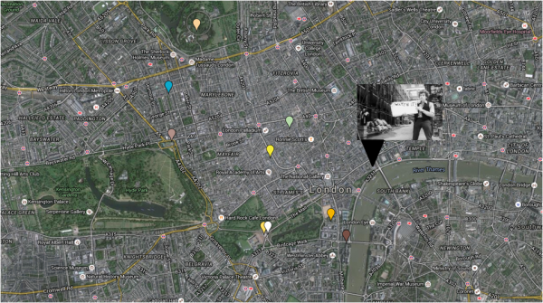 Iconic photographs mapped around London