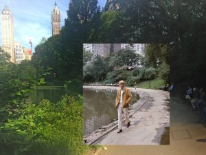 Harry Nilsson in Central Park southern edge of The Pond southeast corner