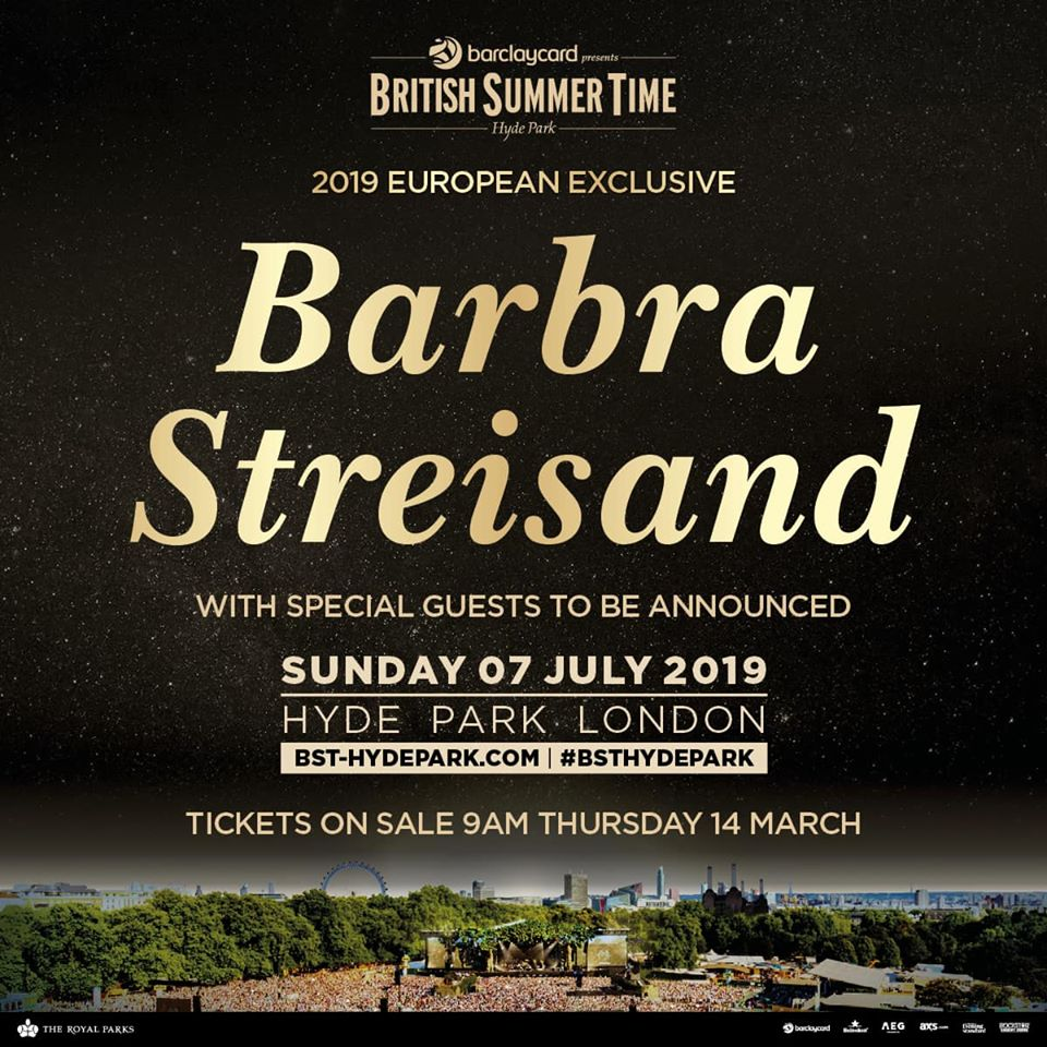 Barbra Streisand to play British Summer Time Hyde Park