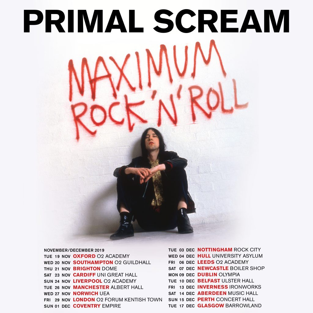 Primal Scream – 'Maximum Rock 'n' Roll: The Singles' – Out Now