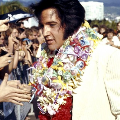 Elvis aloha arrival Aloha Press Photo Color © Steve Barile _ January 14th, 1973