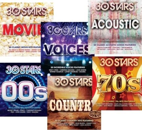 30 stars : le compilation in doppio cd con 30 hits!