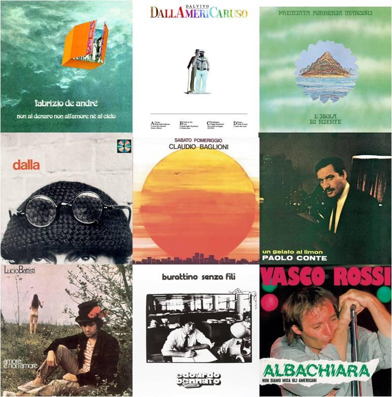 9 grandi titoli della musica italiana in vinile