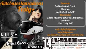 Autobuses lanzaderas para ir al concierto de Leiva en Rivas Vaciamadrid