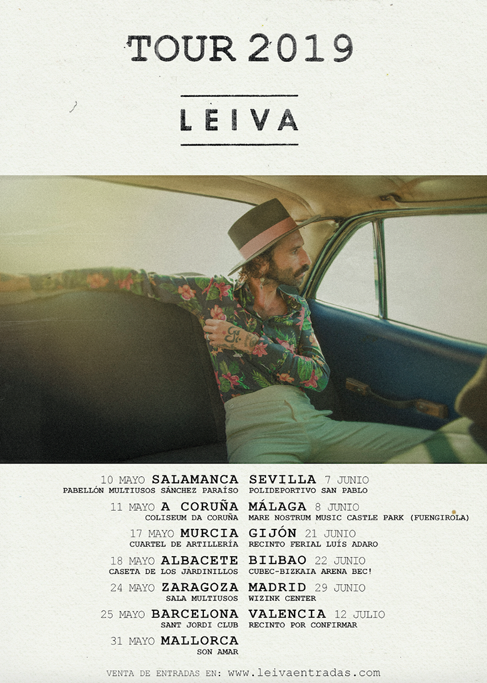 COMUNICADO OFICIAL – VENTA DE ENTRADAS LEIVA TOUR 2019