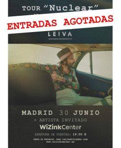 """Leiva agota las entradas para la segunda fecha de Madrid y es No.1 en la lista de streaming con """"Nuclear"""""""