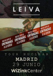 Leiva anuncia un cupo extra de entradas para su concierto del 29 de junio en el WiZink Center de Madrid