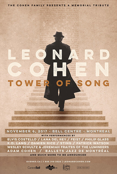 The Cohen Family presents TOWER OF SONG: A MEMORIAL TRIBUTE TO LEONARD COHEN - Poster