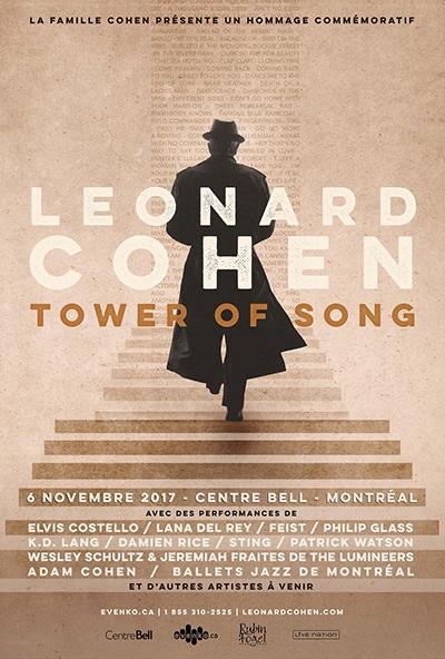 La Famille Cohen présente TOWER OF SONG UN HOMMAGE COMMÉMORATIF À LEONARD COHEN