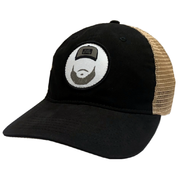 LC black and khaki beard ballcap