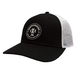 LC black and white bootleggers ballcap