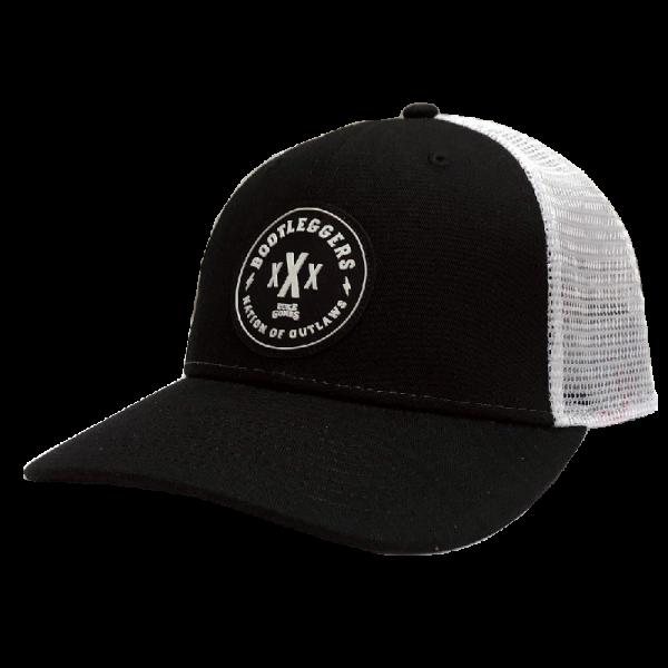 LC black and white bootleggers ballcap