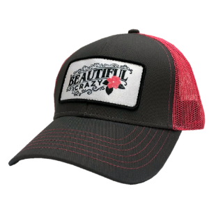 LC grey and pink ballcap