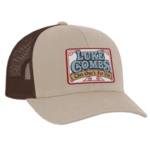 LC khaki and brown ballcap