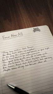 FAA Handwritten Lyrics Wallpaper