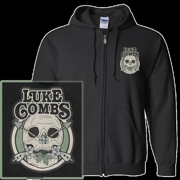 LC ZIP UP skull hoodie