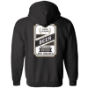 LC black Beer hoodie back