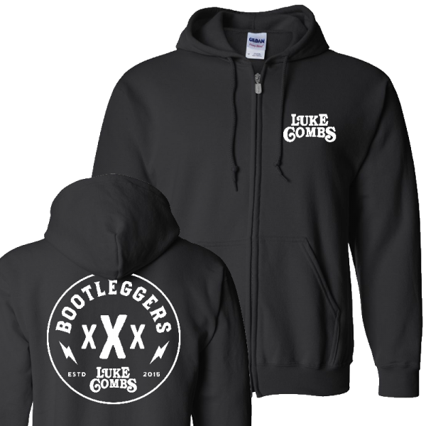 LC bootleggers hoodie front and back
