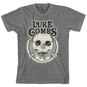 LC deep heather skull tee