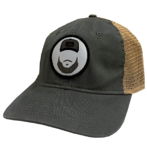 LC grey and khaki ballcap