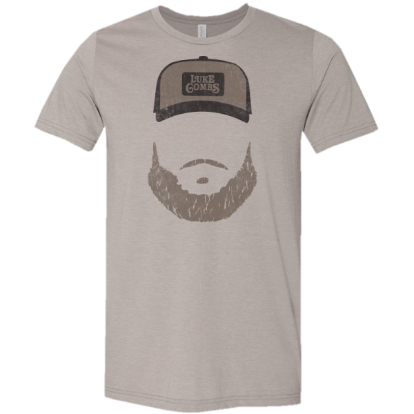 LC heather stone beard tee