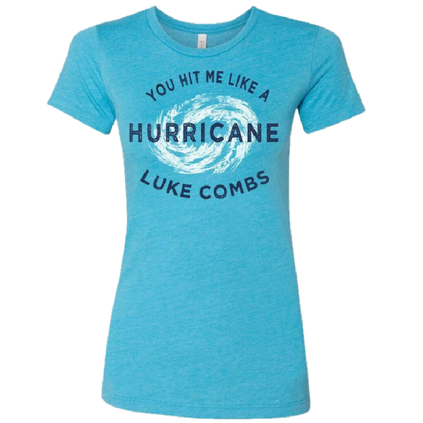 LC ladies heather aqua hurricane tee