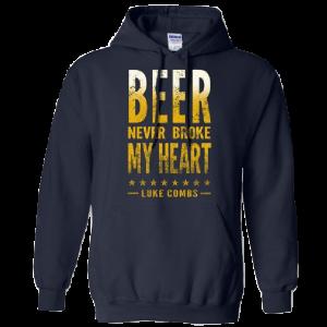 LC navy beer hoodie