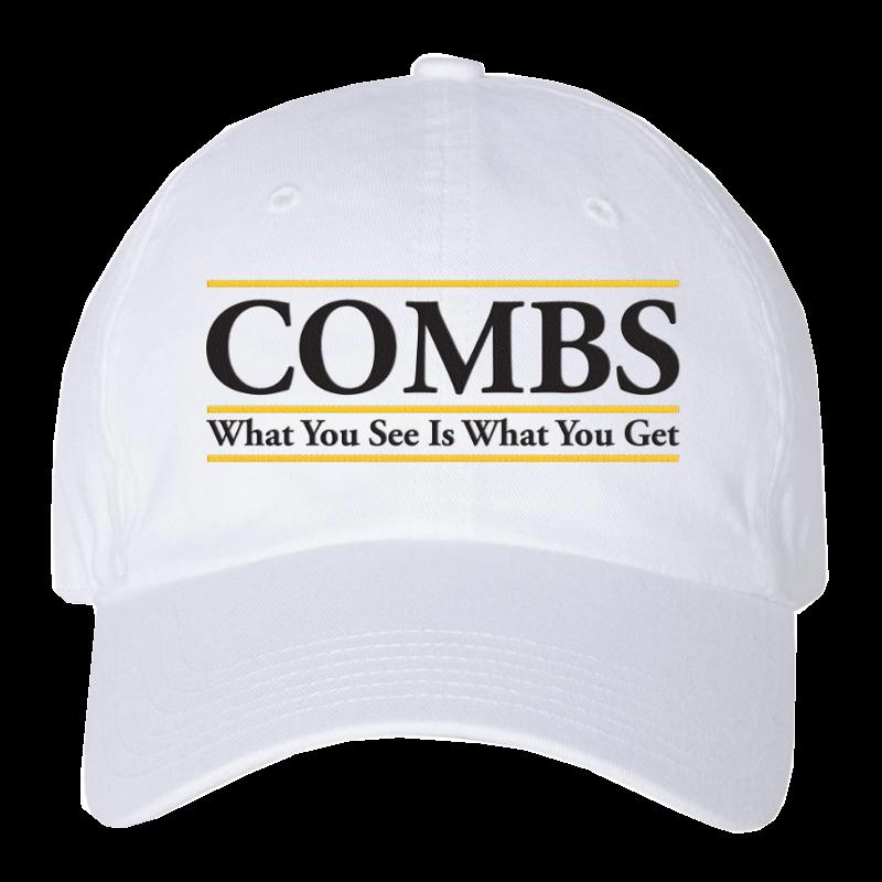 LC white collegiate hat