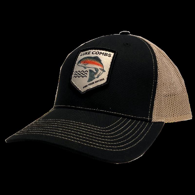 LC black and khaki ballcap front