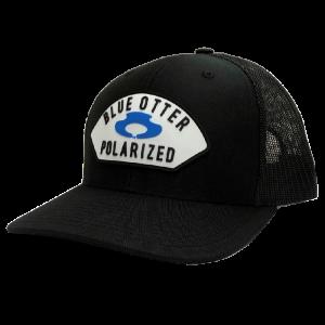 LC black blue otter hat