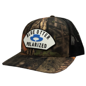 LC camo and blue otter hat