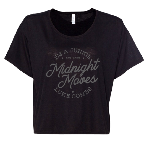 LC midnight moves crop tee
