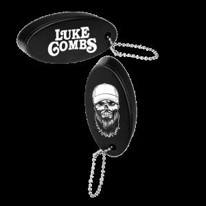 Black skully float keyring