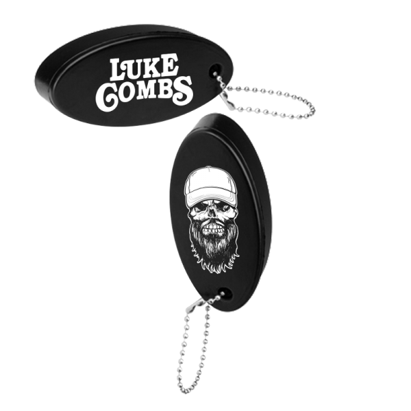 Black skully float keyring