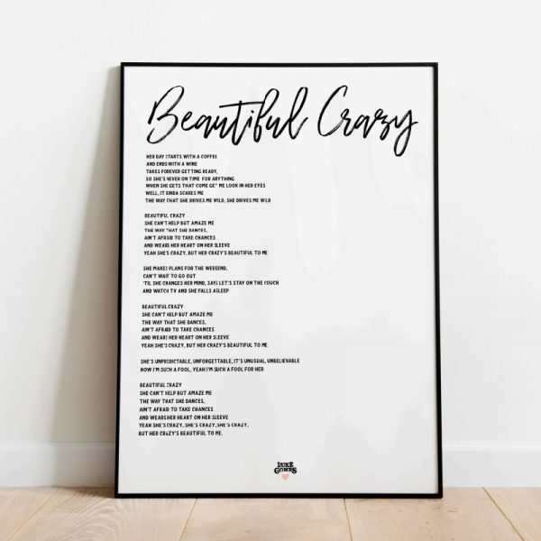 Beautiful Crazy White poster