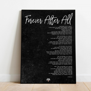 Forever After All black poster