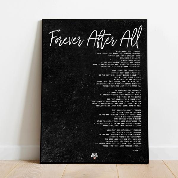 Forever After All black poster