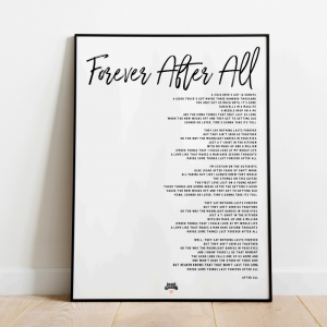 Forever after all white poster