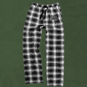 LC black and white plaid pj pants