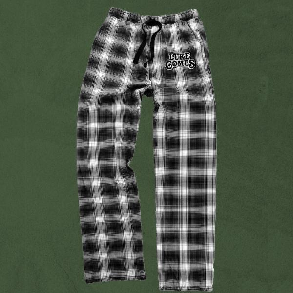 LC black and white plaid pj pants