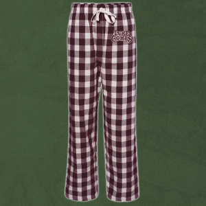 LC natural and maroon pj pants