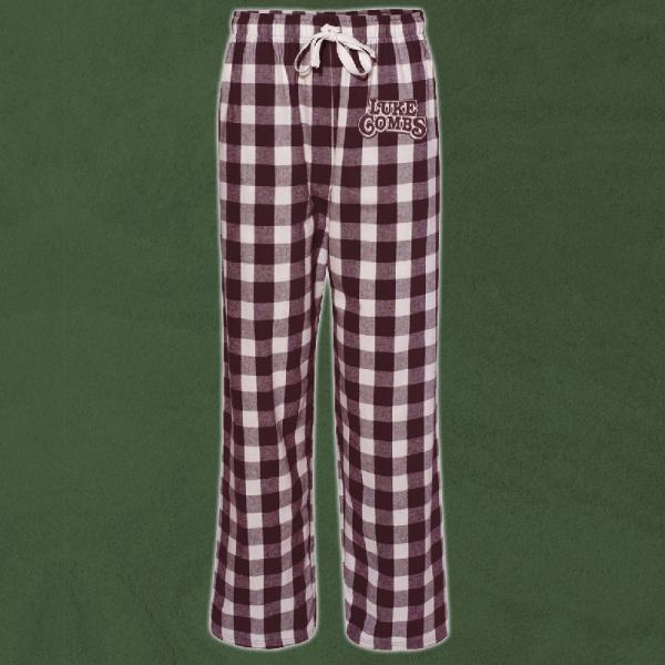 LC natural and maroon pj pants