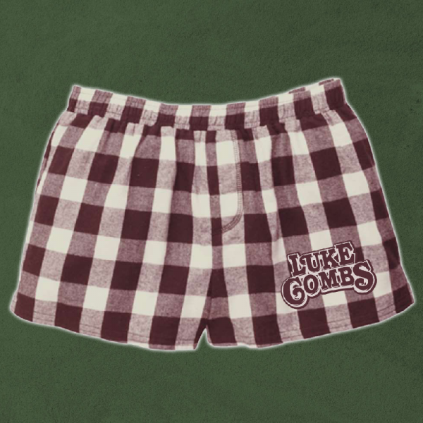 LC natural and maroon pj shorts