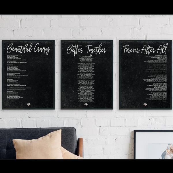 Trilogy of Love Black poster set