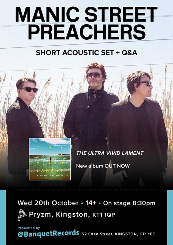 Acoustic set plus Q&A at Banquet Records