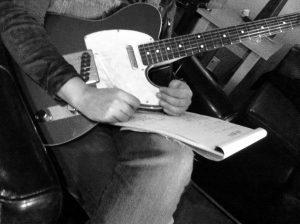Imágenes de la grabación del nuevo disco de Manolo García