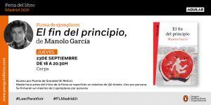 Firma de Manolo García en la Feria del Libro de Madrid