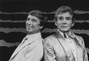 George Hearn, as Albin, and Gene Barry, as Georges